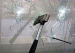 Пробивание стекла с защитной пленкой
